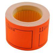 Цінник 50*40мм, ЦІНА,  (150шт, 6м), прямокутний, зовнішня намотка, помаранчевий BM.282109-11 (1/20