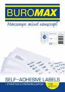 Етикетки з клейким шаром 16шт., 105х37,1мм (100 аркушів) BM.2834 (1/10/500)