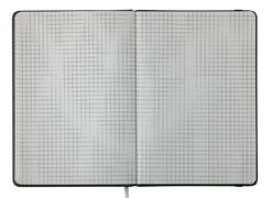 Блокнот діловий WOOD А5, 96 арк., клітинка, обкл. штучна шкіра, сірий BM.295114-09 (1/50)