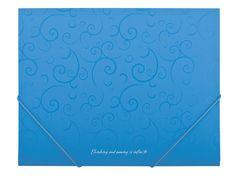 Папка пласт. А5 на гумках, BAROCCO, блакитний BM.3902-14 (1/60/120/4)