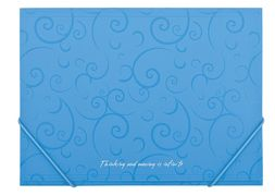 Папка пласт. А4 на гумках, BAROCCO, блакитний BM.3914-14 (1/60/120/2)