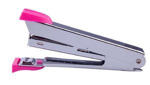 Степлер металевий до 12арк., (скоби №10), рожевий BM.4152-10 (1/12/288)