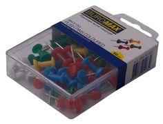 Кнопки-цвяшки, кольор., 50шт., пластиковий контейнер BM.5150 (1/10/360/8)