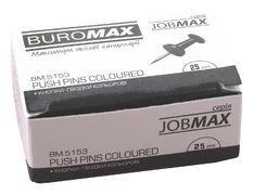 Кнопки-цвяшки, кольор. JOBMAX, 25шт. BM.5153 (1/10/500)