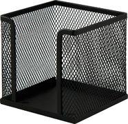 Бокс для паперу 100х100x100мм, металевий, чорний BM.6215-01 (1/12/72/72)