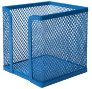 Бокс для паперу 100х100x100мм, металевий, синій BM.6215-02 (1/12/72)