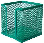 Бокс для паперу 100х100x100мм, металевий, зелений BM.6215-04 (1/12/72)