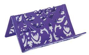 """Підставка для візиток """"Barocco"""" 100x97x47мм, металева, фіолетовий BM.6226-07 (1/12/144)"""