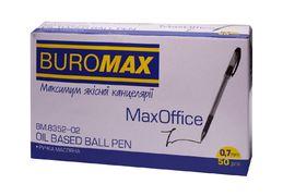 Ручка масляна MaxOFFICE, чорна, 2 шт. в блістері BM.8352-02-2 (1/20/240)