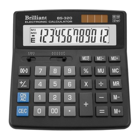 Калькулятор Brilliant BS-320, 12 розрядів BS-320 (1/10/40)