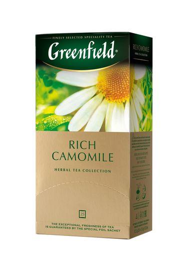 /Чай трав'яний RICH CAMOMILE 1,5гх25шт., Greenfield , пакет gf.106042 (10)