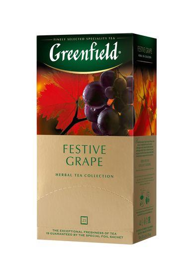 /Чай трав'яний Festive Grape 2гр.х25шт, Greenfield, пакет gf.106136 (1/10)
