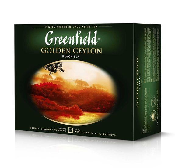Чай черный 2г*50, пакет, Golden Ceylon, GREENFIELD gf.106203 (1/12)