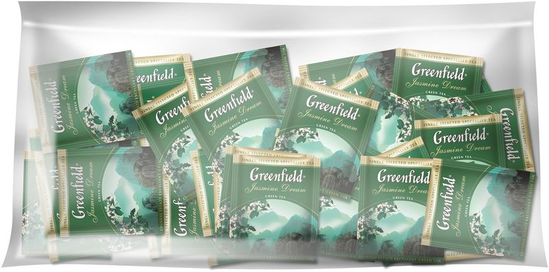 Чай зелёный 2г*100, пакет, ХоРеКа Jasmine Dream, GREENFIELD gf.106427 (12)