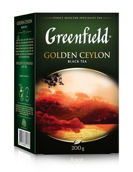 Чай чёрный 200г, лист, Golden Ceylon, GREENFIELD gf.106465 (1/8)