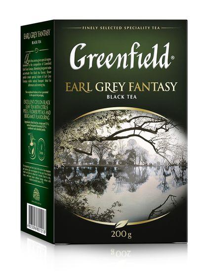 Чай чёрный 200г, лист,  Earl Grey Fantasy, GREENFIELD gf.106466 (1/8)