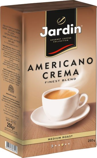 Кофе молотый 250г, вакуум, Americano Crema, JARDIN jr.109532 (1/20)