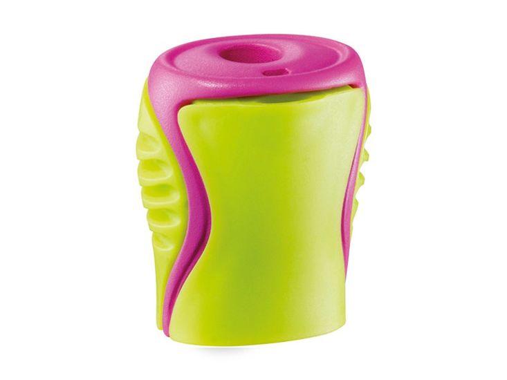 Точилка с контейнером BOOGY, 1 отв., салатовая с розовым, ассорти MP.063311.Z.90 (1/100)
