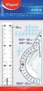 Набір лінійок ESSENTIALS Mini 15см. (4предмета), блістер MP.242815 (1/100)