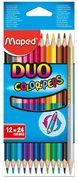 Олівці кольорові COLOR PEPS Duo, двосторонні 12шт./24 кол. MP.829600 (1/12/180)