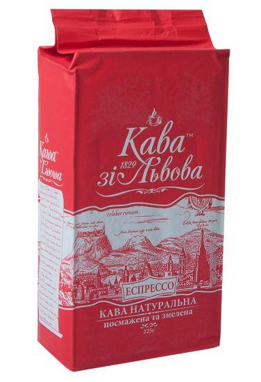 Кофе молотый Эспрессо, 225г , Кава зі Львова пакет prpzl.20910 (24)