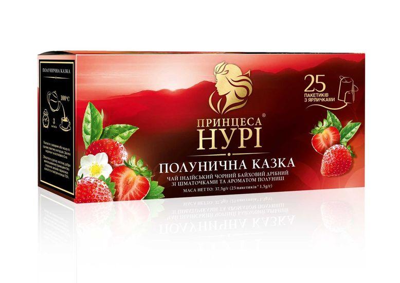 Чай чёрный 1.5г*25 пакет, Клубничная сказка, ПРИНЦЕССА НУРИ prtr.103013 (1/24)