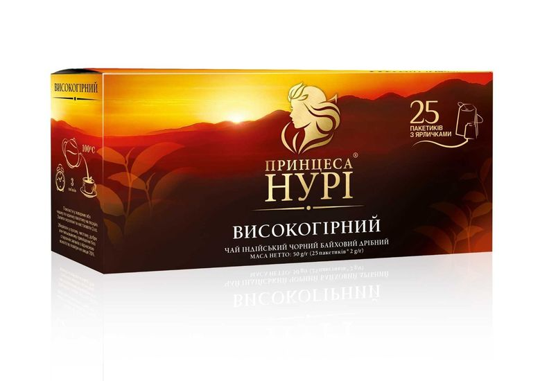 Чай чёрный 2г*25 пакет, Высокогорный, ПРИНЦЕССА НУРИ prtr.103103 (1/24)