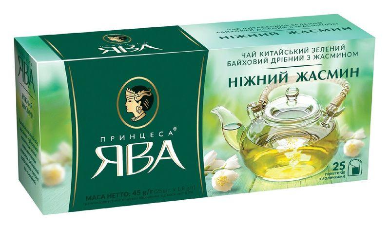 Чай зелёный 1.8г*25 пакет, Нежный жасмин, ПРИНЦЕССА ЯВА py.104103 (1/24)