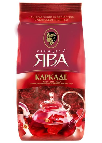 Чай каркаде 80г, лист, ПРИНЦЕССА ЯВА рy.104178 (1/20)