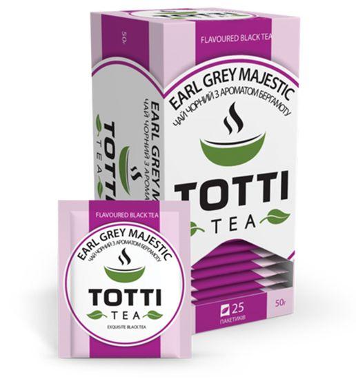 Чай черный TOTTI Tea «Ерл Грей Маджестік», пакетированный, 2г*25*32 tt.51502 (1/32)