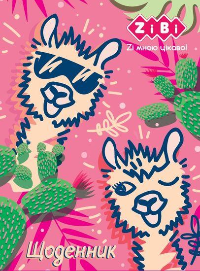 Щоденник шкільний  ANIMALS, A5+, 40 арк., інтеграл. обкл., мат. лам , KIDS Line ZiBi ZB.13916 (1/10)