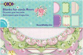 Основа для листівок Roses 10.2*15.3см ZB.18202-AF (1/50/250)