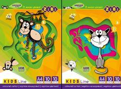/Картон кольоровий, А4, 10 кольорів - 10 аркушів, 230г/м2, KIDS Line ZB.1950 (1/20/300)
