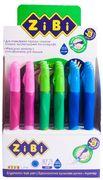 Ручка кулькова для лівші з гумовим грипом, синій, дисплей ZB.2001-01 (1/18/324)