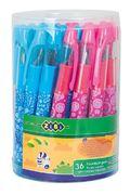 Ручка перова (відкрите перо), колір корпусу асорті, дизайн з малюнками, туба 36 шт. ZB.2241 (1/36/43
