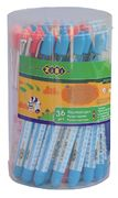 Ручка перова (відкрите перо) + 2 капсули, рожевий корпус з малюнками, картонний блістер ZB.2243 (1/1