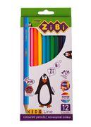 Кольорові олівці, 12 кольорів, KIDS LINE ZB.2414 (1/24/240)