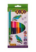 Кольорові олівці Double, 12 шт. (24 кольори), KIDS LINE ZB.2463 (1/24/240)