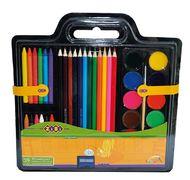 Набір для малювання (фарби, кол.карандаши, крейда воскова, пензель натуральний, чинка) ZB.6400 (1/12