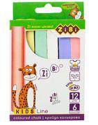 /Крейда кольорова квадратна 12 шт., картонна коробка, KIDS Line ZB.6703-99 (1/112/3264)
