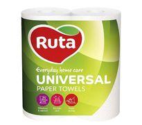 Полотенца целлюлозные UNIVERSAL, по 2 рул., на гильзе, 2-х сл., белый RUTA Ruta rt.40730 (1/16)