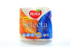 / Рушники целюлозні Selecta, по 2 рул., На гільзі, 3-х сл., Білий RUTA rt.44516 (1/6)