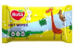 Серветки вологі Ruta Selecta веселі звірятка 60 шт rt.92441 (1/12)