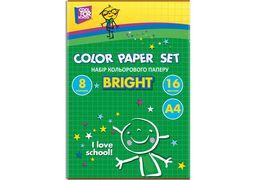 Набір кольорового паперу  CFS, А4 16арк., 8 кол., 45 г/м2 CF05280-01 (40)