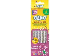 Набір гелевих ручок Glint, 6 кольорів з блискітками CF11917 (12)