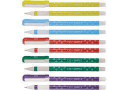 Ручка кулькова Simple, колір чорнил: синій, 0,7 мм, асорті CF11967 (50)