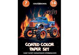 Набір паперу кольорового крейдований CF21100-02 (20)