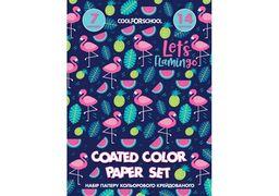Набір паперу кольорового крейдований CF21100-09 (40)