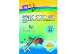 Набір кольорового паперу двостороннього CFS, А4, 16 арк 16 кол, 80г/м2 CF21101 (40)