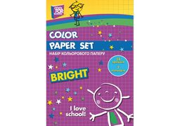 Набір кольорового паперу CFS, А4, 16 арк 8 кол, 70 г/м2 CF21103 (40)
